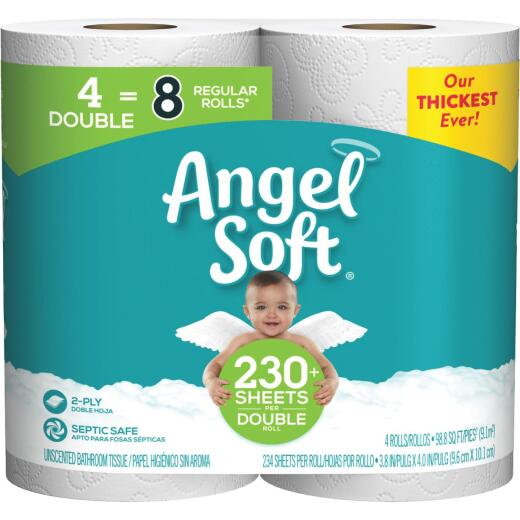 Angel Soft Toilet Paper (4 Double Rolls)