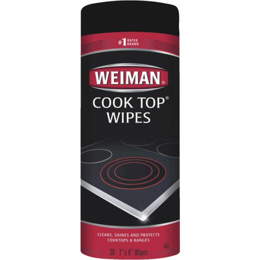 Weiman 7 In. x 8 In. Cook Top Cleaning Wipe (30 Count)