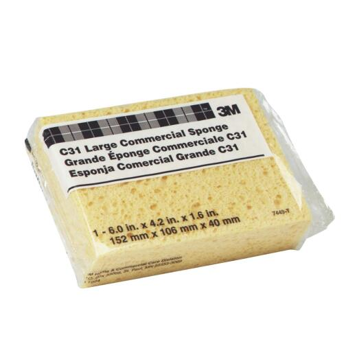 3M 6 In. x 4.25 In. Yellow Sponge
