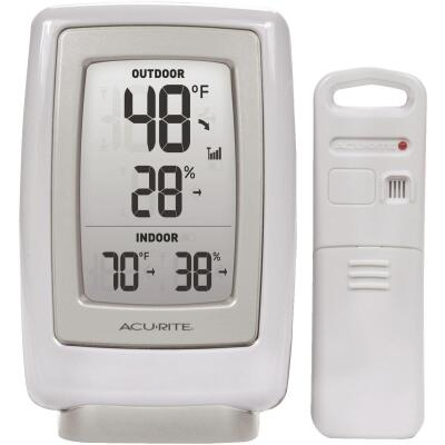 "Acurite 3-1/2"" W x 5-1/2"" H Plastic Wireless Indoor & Outdoor Thermometer & Humidity Gauge"