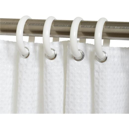 Zenith White Plastic Shower Curtain Ring (12 Count)