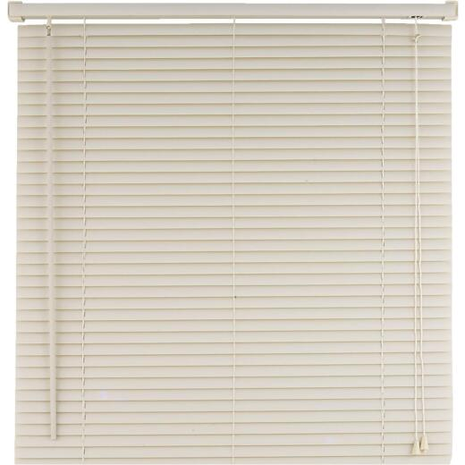 Home Impressions 35 In. x 64 In. Alabaster Vinyl Light Filtering Corded Mini-Blinds