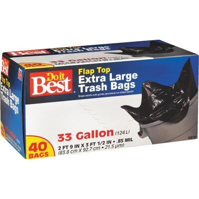 Do it Best 33 Gal. Extra Large Black Trash Bag (40-Count)