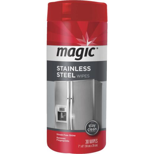 Magic Stainless Steel Cleaning Wipe, 30-Ct.