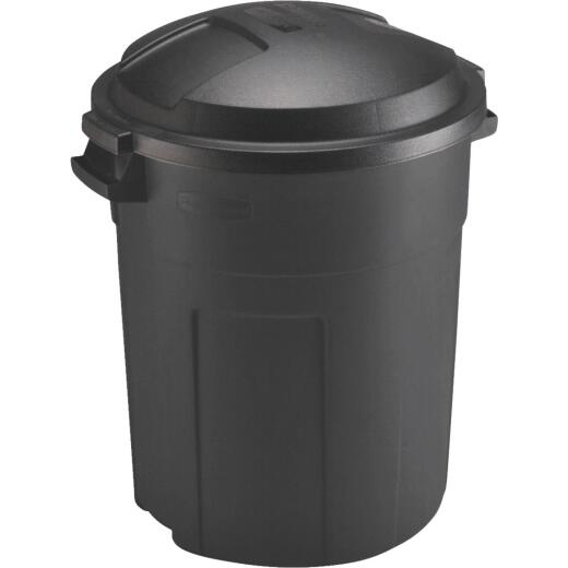 Rubbermaid 20 Gal. Black Trash Can with Lid