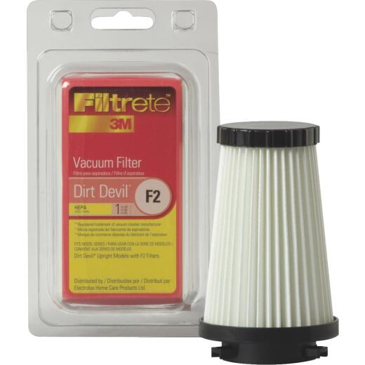 3M Filtrete Dirt Devil Type F2 HEPA Dynamite Quick Vac,Flip Stick,PowerReach Vacuum Filter