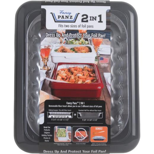 Fancy Panz 9.38 In. W. x 11.75 In. L. Charcoal 2-In-1 Foil Pan Baking Carrier