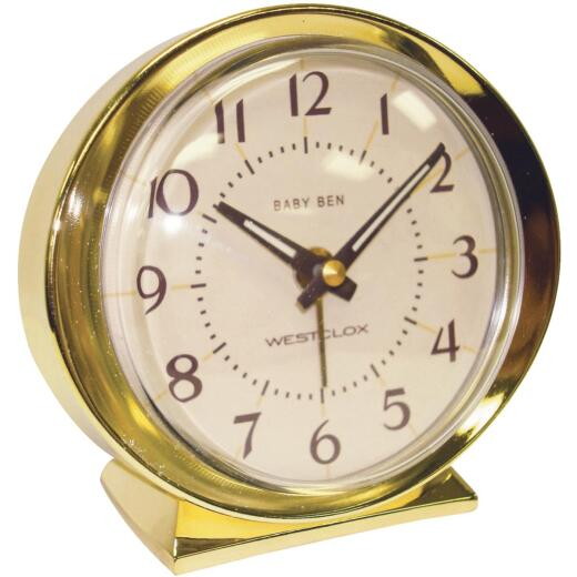 Westclox Baby Ben Gold Classic Style Battery Operated Alarm Clock