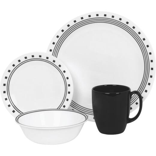 Corelle City Block Dinnerware (16 Piece)