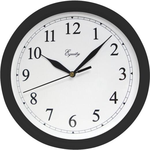 La Crosse Technology Equity Black Quartz Wall Clock