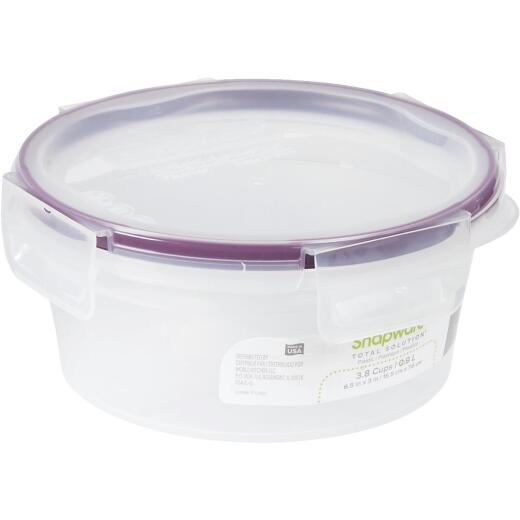Snapware Total Solution 3.8 Cup Plastic Round Food Storage Container with Lid