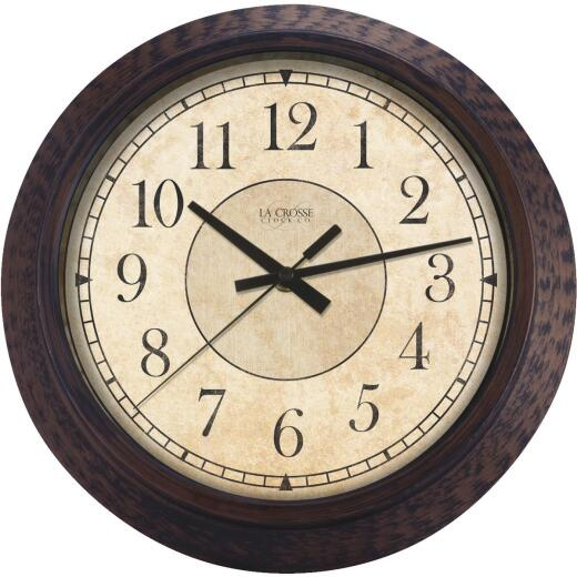"14"" RND ANTQ WALL CLOCK"