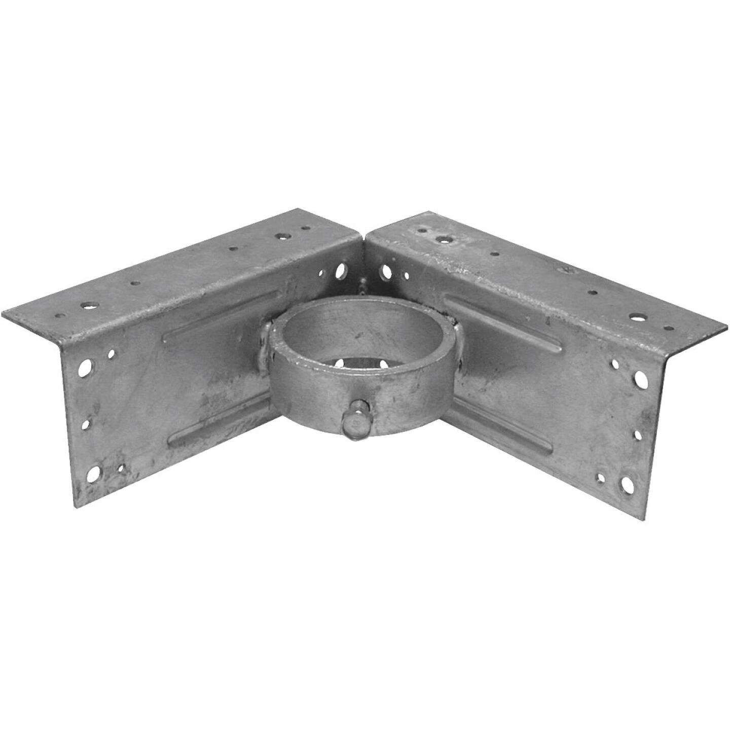 Midwest Air Tech Corner 2-3/8 in. Steel Fence Post Adapter Clamp Image 1