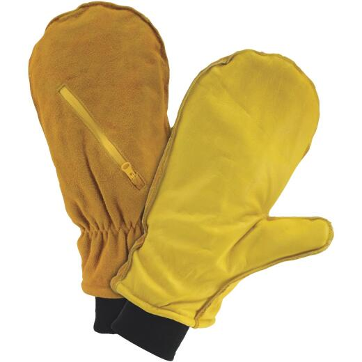 West Chester Men's Large Insulated Leather Mitten Winter Glove