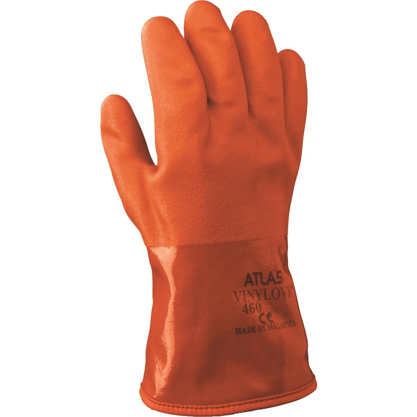 Atlas Men's Large Double-Dipped PVC Winter Work Glove Image 1