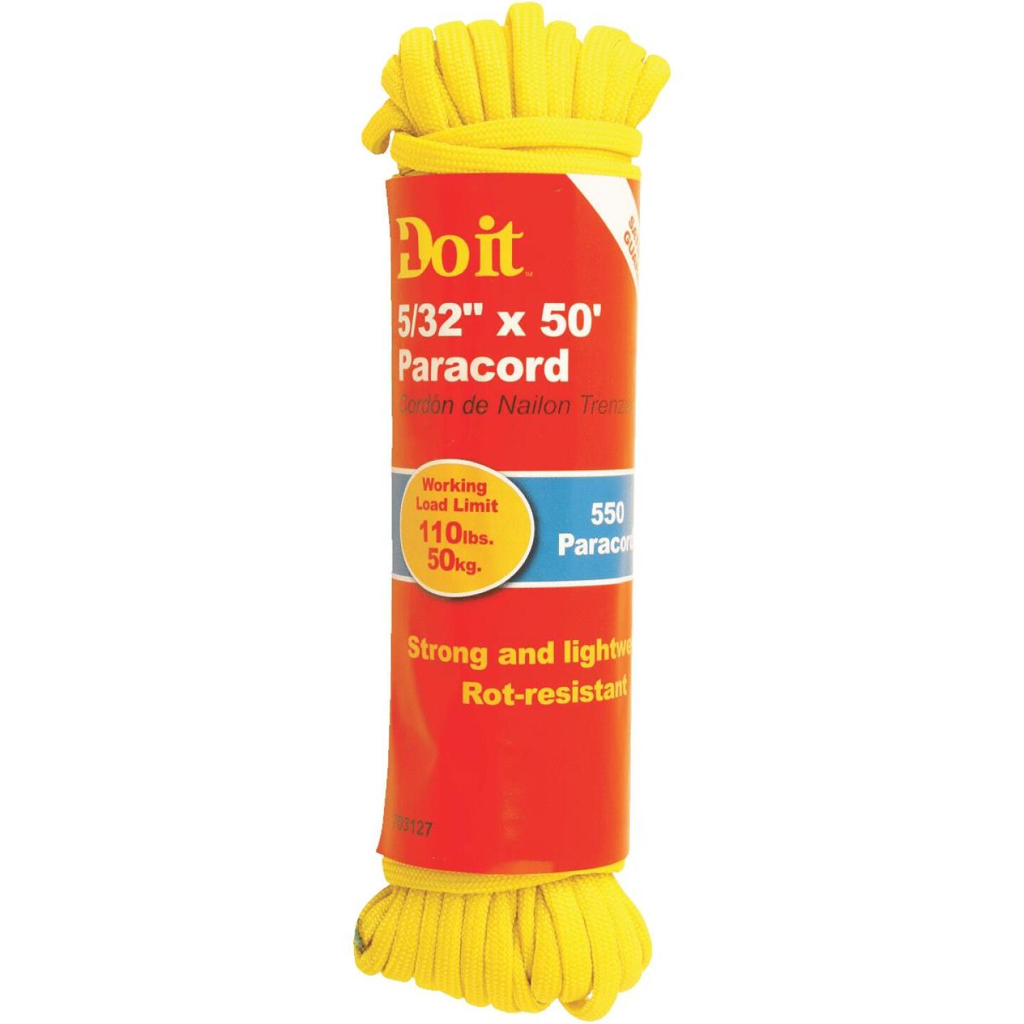 Do it 550 5/32 In. x 50 Ft. Yellow Nylon Paracord Image 1