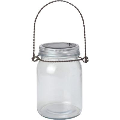 Moonrays Decorative Glass Jar LED Lighted Solar Lantern