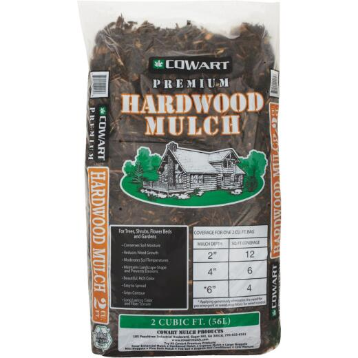 Cowart 2 Cu. Ft. Natural Brown Shredded Hardwood Mulch