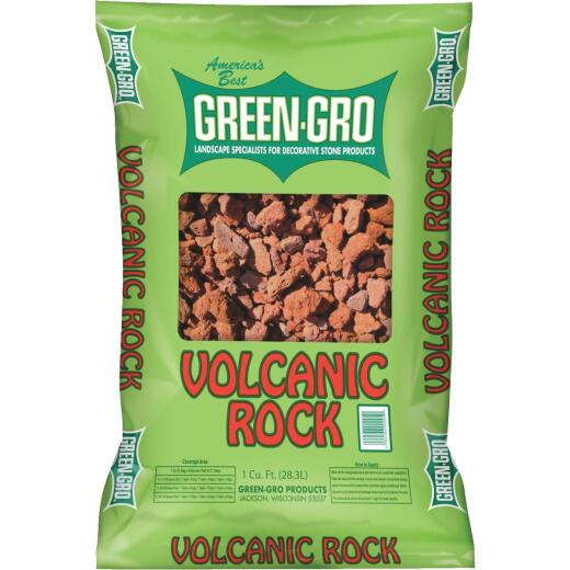 Green Gro 1 Cu. Ft. Red Volcanic Rock
