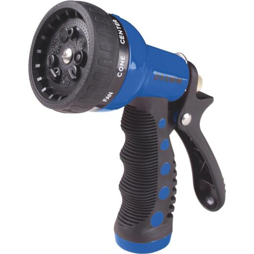 Dramm Heavy-Duty Metal 9-Pattern Nozzle, Blue