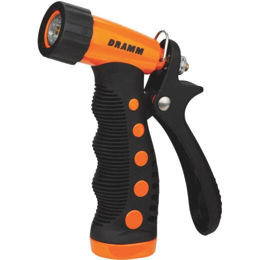Dramm Heavy-Duty Metal Pistol Nozzle, Orange