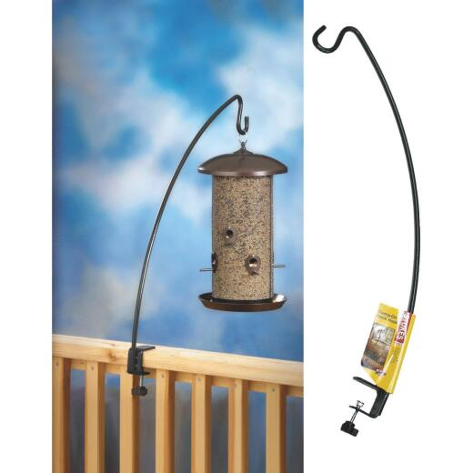 Stokes Select 33 In. Black Deck Clamp Bird Feeder Hook