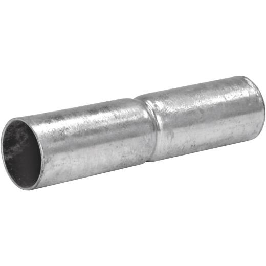 Midwest Air Tech 6 In. L. x 1-3/8 In. Dia. Zinc Coated Galvanized Steel Rail Sleeve