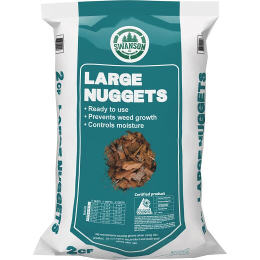 Swanson 2 Cu. Ft. Large Natural Decorative Bark Mulch Nuggets