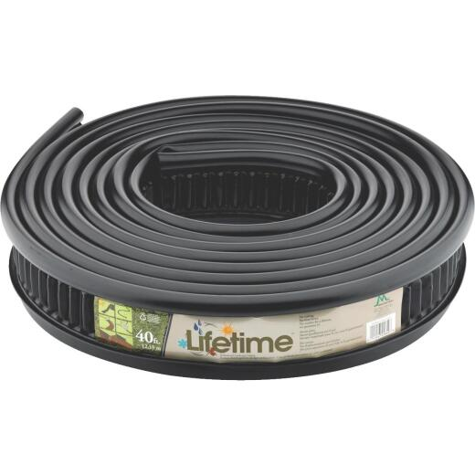 Master Mark Lifetime Professional 5 In. H. x 40 Ft. L. Black Recycled Plastic Lawn Edging