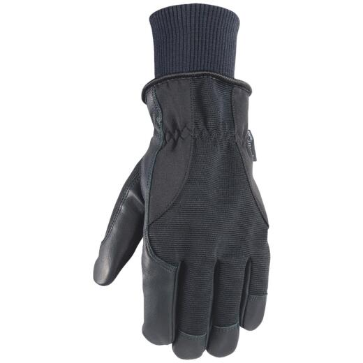 Wells Lamont HydraHyde Men's Large Grain Goatskin Black Insulated Work Glove