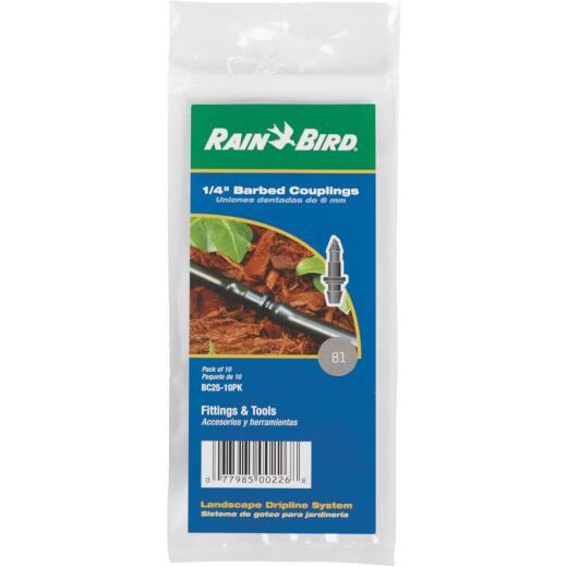 Rain Bird 1/4 In. Tubing Barbed Coupling (10-Pack)