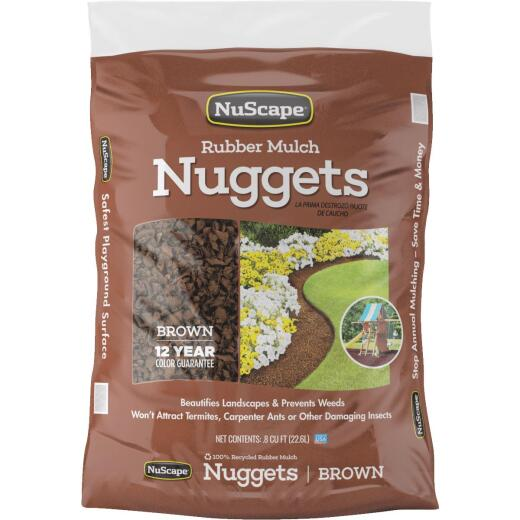 NuScape Brown 0.8 Cu. Ft. Rubber Mulch Nuggets
