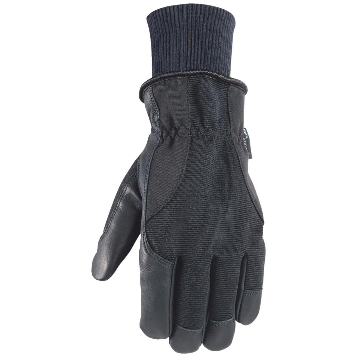 Wells Lamont HydraHyde Men's 2XL Grain Goatskin Black Insulated Work Glove Image 1