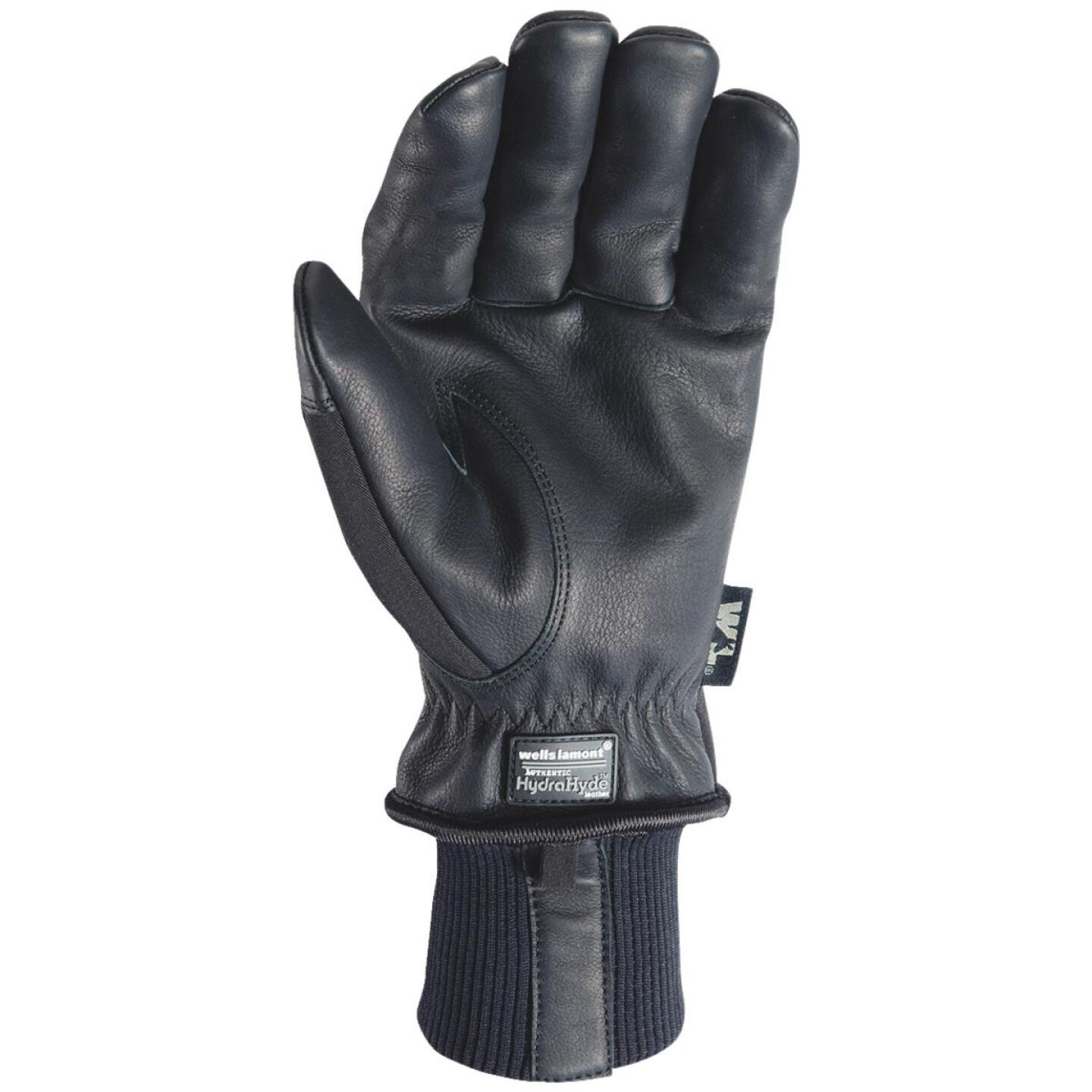 Wells Lamont HydraHyde Men's 2XL Grain Goatskin Black Insulated Work Glove Image 2