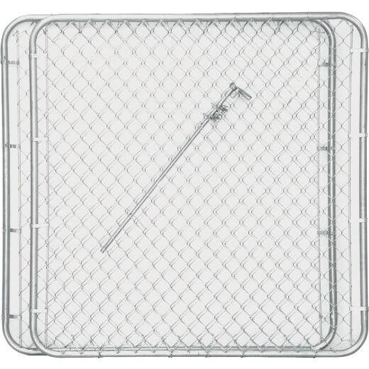 Midwest Air Tech Double Drive 114 In. W. x 46 In. H. Chain Link Gate