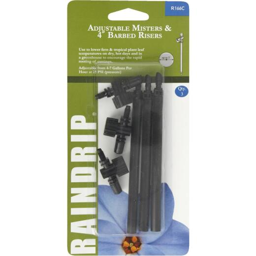 Raindrip Full Circle 4 In. Adjustable Mister with Riser (3-Pack)