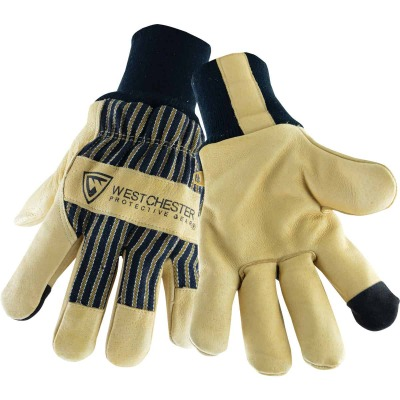 West Chester Men's XL Pigskin Leather Winter Glove with Knit Wrist