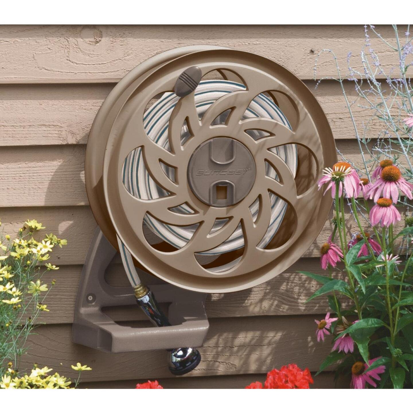 Suncast Sidetracker 125 Ft. x 5/8 In. Taupe Resin Hose Reel Image 3