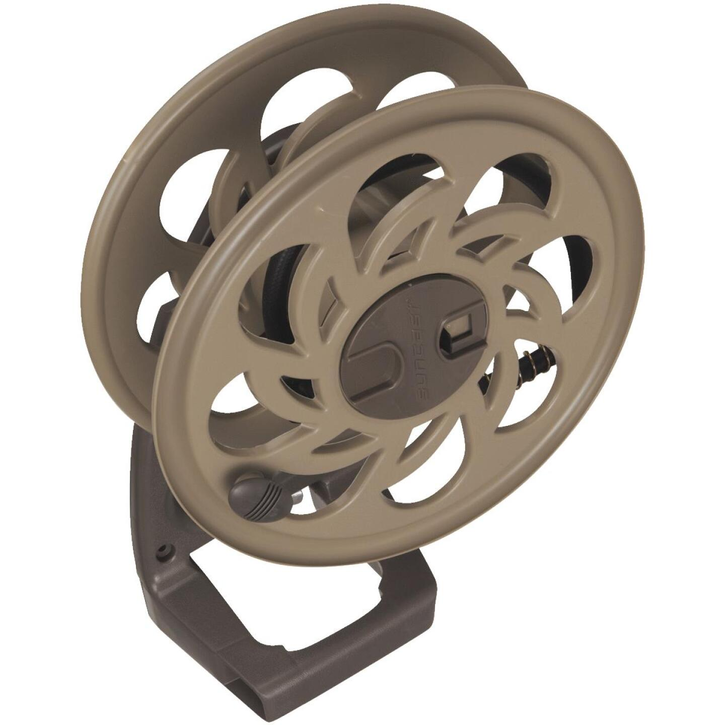 Suncast Sidetracker 125 Ft. x 5/8 In. Taupe Resin Hose Reel Image 1
