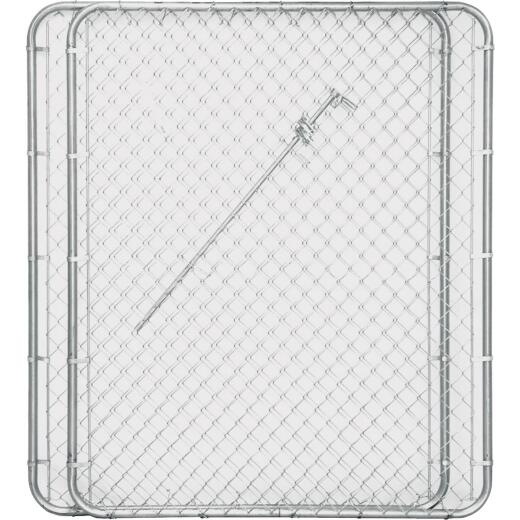 Midwest Air Tech Double Drive 114 In. W. x 72 In. H. Chain Link Gate