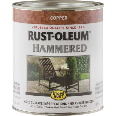 Rust-Oleum Stops Rust Hammered Paint, Copper, 1 Qt.
