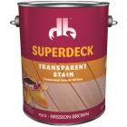 Duckback SUPERDECK VOC Transparent Exterior Stain, Mission Brown, 1 Gal. Image 1