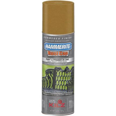 Hammerite Rust High Gloss Gold  12 Oz. Hammered Finish Spray Paint