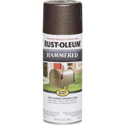 Rust-Oleum Brown Metallic 12 Oz. Hammered Finish Spray Paint