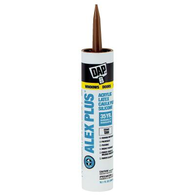 DAP ALEX PLUS All Purpose 10.1 Oz. Cedar Tan Siliconized Acrylic Latex Caulk