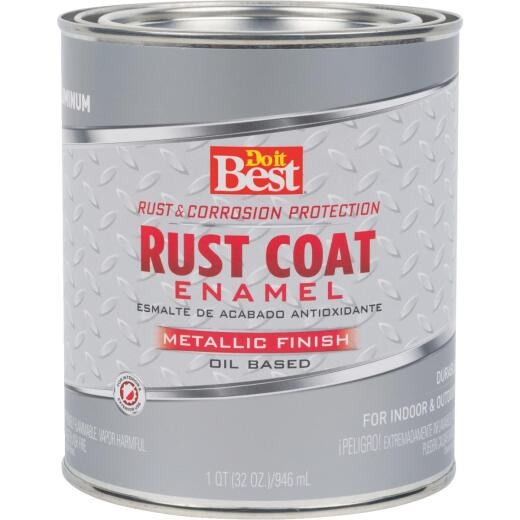 Do it Best Rust Coat Oil-Based Gloss Enamel, Aluminum, 1 Qt.