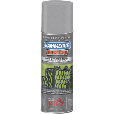 Hammerite Rust High Gloss Silver Gray  12 Oz. Hammered Finish Spray Paint