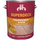 Duckback SUPERDECK VOC Transparent Exterior Stain, Canyon Brown, 1 Gal. Image 1