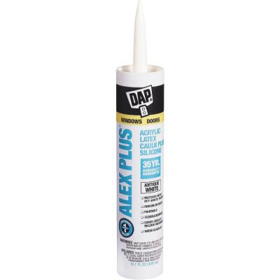 DAP ALEX PLUS All Purpose 10.1 Oz. Antique White Siliconized Acrylic Latex Caulk