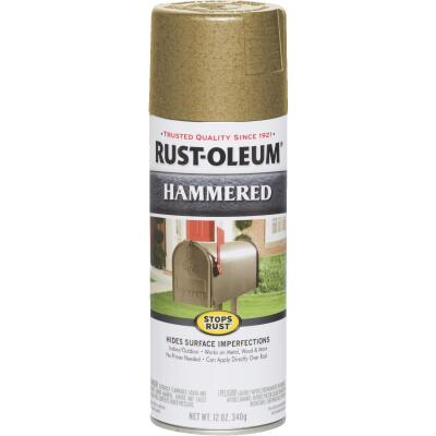 Rust-Oleum Gold Metallic 12 Oz. Hammered Finish Spray Paint